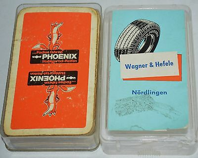 OLD VINTAGE PLAYING CARDS WITH ADVERTISING  Füchse FAHREN PHOENIX – FIRESTONE