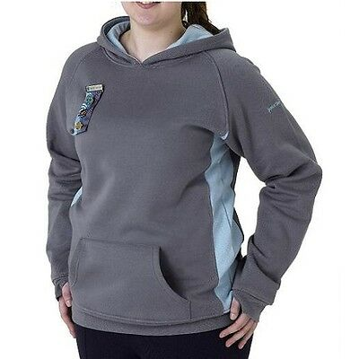 Senior Section Hoodie Hooded Jacket Grey Ice Size 12 Girlguiding Official New