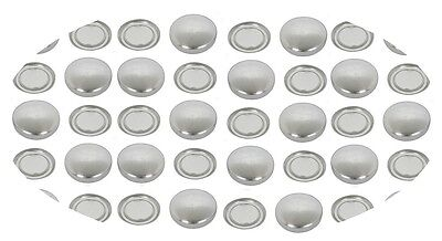 50 Self Cover Buttons 12mm FLATBACK 20L old concave back style & 1 free tool