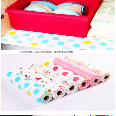 300X30CM Polka Dots Shelf Contact Paper Cabinet Drawer Kitchen Table Mat DIY