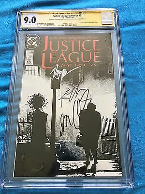 Justice League (1987) #27 -DC - CGC SS 9.0 -Signed by Maguire, Giffen, DeMatteis