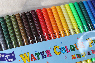30 Water Coloured Colour Pens Marker Textas Non Toxic Texta Kid Painting Pen
