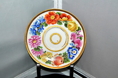 Magnificent Antique 19th C Meissen Hand Painted Saucer c. 1814 Great Condition.