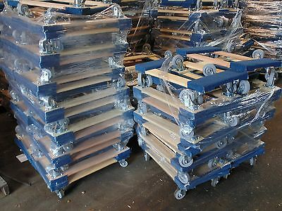 """Set of 100, NK Furniture Movers Dolly, Non-marking 4"""" TPR Wheels, Local Pickup"""