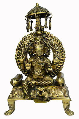 Brass god statue of ganesh handicrafts product by BharatHaat™BH00800