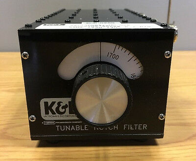 K&L Tunable Band Reject Filter 5TNF-1700/2000-0.1-N/N 1700-2000 Mhz