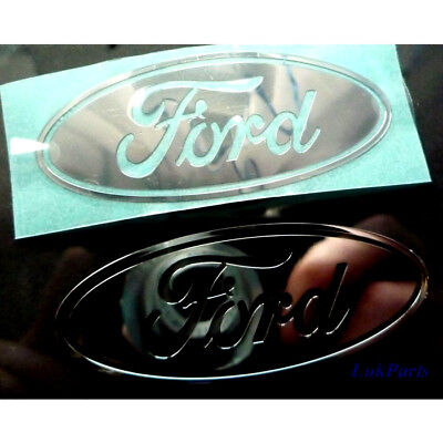 Large ford metallic big car stickers chrome 7 vinyl 60mm x 25mm 10 8 windows