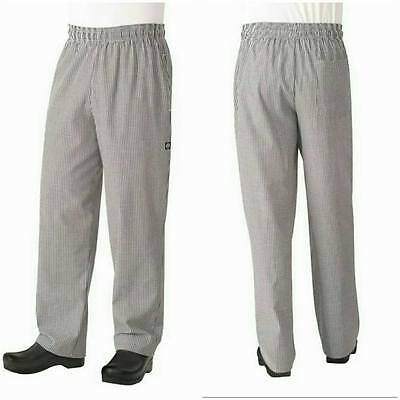 Chef Works Men's Essential Baggy Checkered Chef Pants size L NBCP