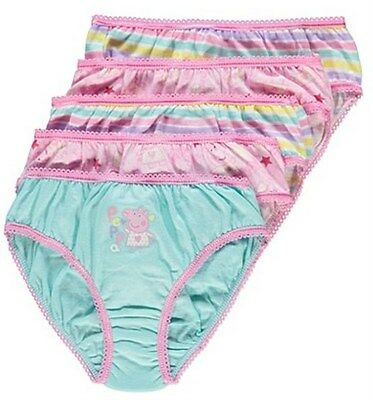 PEPPA PIG 2 PAIRS OF GIRLS BRIEFS/KNICKERS/UNDERWEAR - New