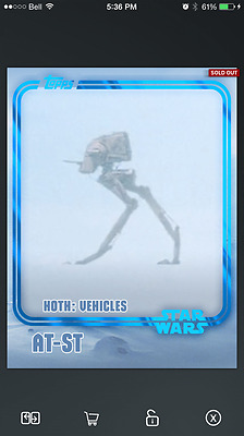 Topps Star Wars Card Trader Insert, Hoth Encounter, Blue, AT-ST, 2,500cc!