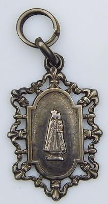 Our Lady of Myans Art Nouveau Sterling Silver Holy Medal Black Madonna Pilgrim