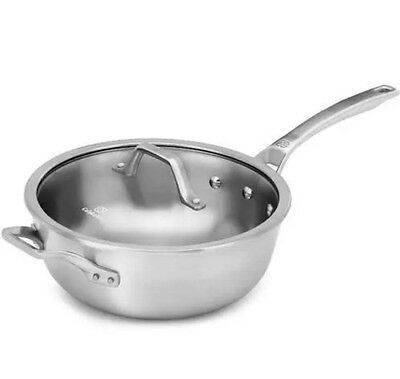 Calphalon 1948244 Signature Stainless Steel 4 Qt Chef Pan & Cover NEW IN BOX
