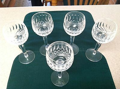 WATERFORD CRYSTAL Colleen Hock Wine Acid Etched Ireland