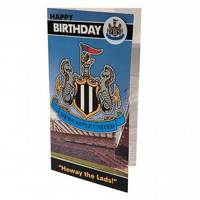 Newcastle United Birthday Card w. Badge - (Official Merchandise)