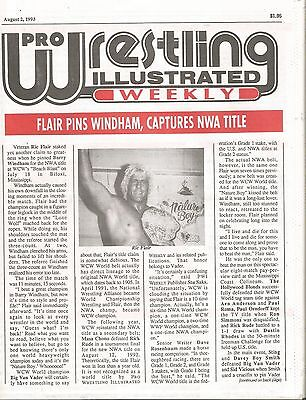 August 2 1993 Pro Wrestling Illustrated Weekly Magazine Nature Boy Ric Flair Nwa