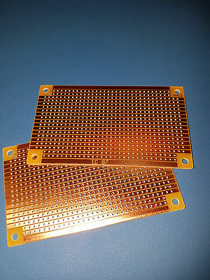 Lot of 2, Stripboard 94mm x 53mm for electronic circuit prototyping