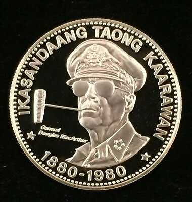 1980 Philippines 2500 Piso General Macarthur Gold 500/1000 Proof