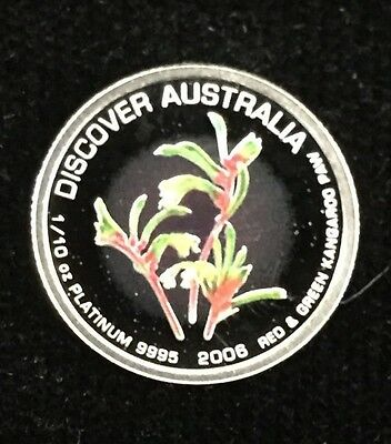 Rare Set 2006 Perth Mint Australia 5 Floral 1/10 Oz Platinum W/ Wood Box