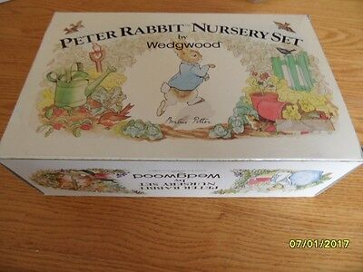 Vintage Peter Rabbit 3 Piece Nursery Set Wedgwood  - Mint-In-Box