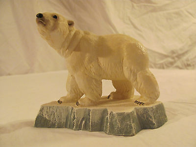 Vintage NORWAY Hand Carved Polar Bear by HENNING