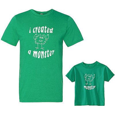 I Created a Monster, Parent & Child Matching T-shirt Set Graphic Tees