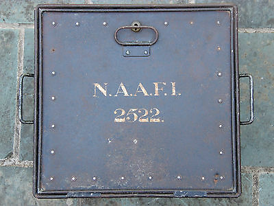 Vintage British Armed Forces N.A.A.F.I.2522 Metal Deed Storage Strong Box No Key