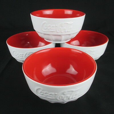 Coca-Cola Cereal Bowls by Gibson Retired Lot of 4