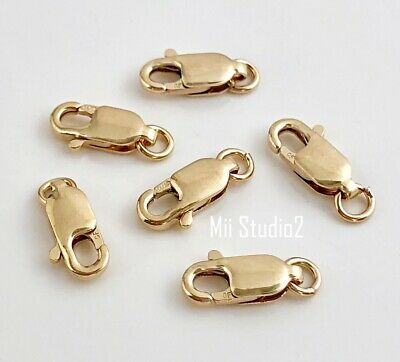 5pcs 10mm 14k gold filled lobster claw clasp closure with open jump ring F36g