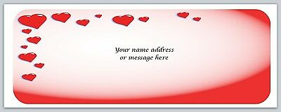 30 Personalized Return Address Labels Hearts Buy 3 get 1 free (bo 696)