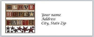 Personalized Return Address Labels Primitive Country Buy 3 get 1 free (c 800)