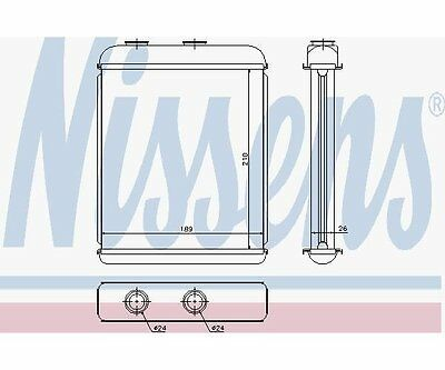 Nissens 72662 Heat Exchanger, Interior Heating