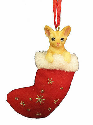 "Orange Tabby Cat ""santa's Little Pal"" Stocking Ornament"