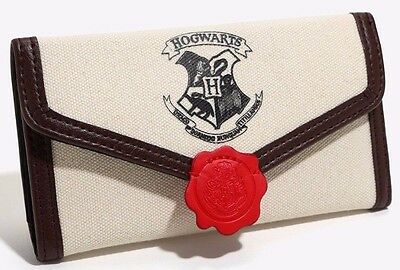 Harry Potter Hogwart's Letter Snap Flap Wallet Clutch New with Tags