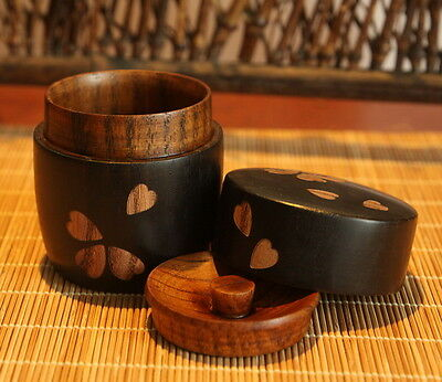 Collectable solid wood Hand Jujube Wood Carving cherry Art Tea Storage Box