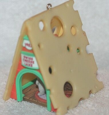 Christmas Ornaments A-Frame Swiss Cheese House