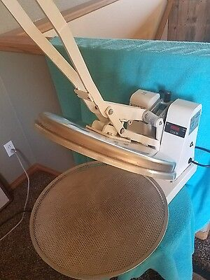 Used Dough Xpress Model DM-18 Manual Heated Dough Press 120V Tested and Working