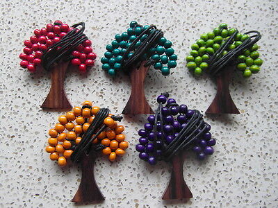 9cm Wooden beaded Tree of Life pendant.  Buy 2 get a free key ring