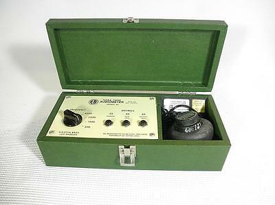 Clean Vintage PORTABLE AUDIOMETER Eckstein Bros EB-46 Hearing Tester Functional