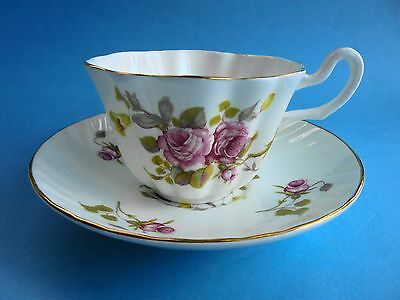Royal Tara Pink Roses Tea Cup And Saucer Like New Ireland