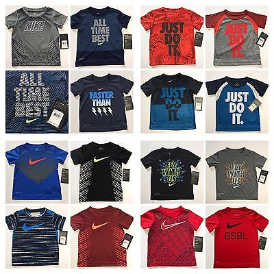NWT Nike Toddler Boys Dri-Fit S/S Tee Shirt You Pick Style & Size!!! 2T 3T 4T