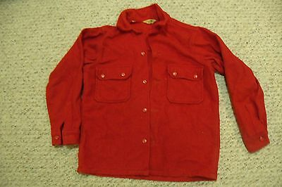 Vintage Red BSA Official Boy Scouts Wool Jacket No patches  Size 40