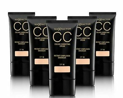 2 x Max Factor CC Colour Correcting Cream SPF10 30ml Sealed - Various Shades