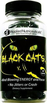 Applied Nutriceuticals Black Cats V2 60 Caps Caffeine Energy and Focus vipers