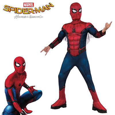 Spiderman Homecoming Boys Costume Deluxe Padded Muscles Marvel Licensed Size 6-8