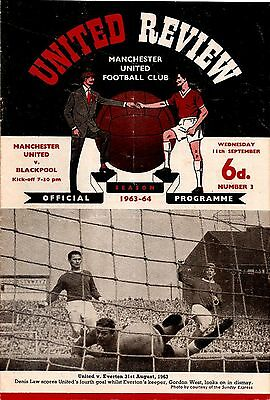 MANCHESTER UNITED v BLACKPOOL League Division 1 1963/64
