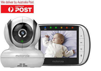 Motorola Mbp36S Deluxe Video And Sound Baby Monitor+New+Wty