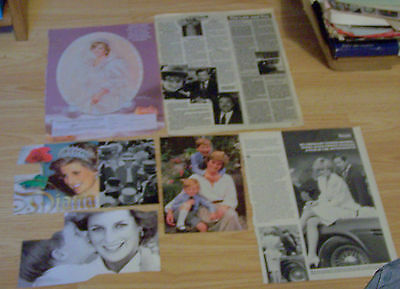Lady Di Princess Diana Spencer Royal Family Magazine Clippings