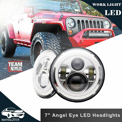 2PC 7Inch 120W Total LED Headlight Upgrade Lamp Hi/Lo Beam for VW Beetle Classic