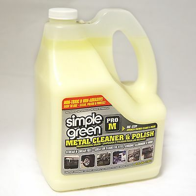 Simple Green Pro M Professional Grade 3.785L (1 Gallon) Metal Cleaner and Polish