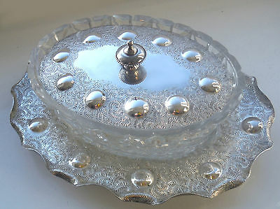 Victorian Silver P Glass Lined Butter/preserve Dish-William Page  **